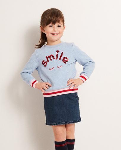 Sweater mit Pailletten-Aufschrift